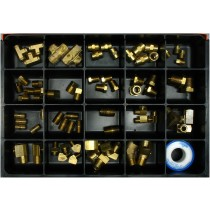 Pipe Fittings Master Assortment: Contains 70 Fittings and a Roll of Teflon Tape