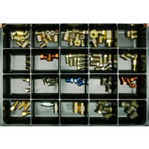 Brake Line Fittings Master Assortment: Nuts, Unions & Adaptors