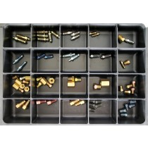 Brake Bleeder Screws Master Assortment: Contains 63 Pieces