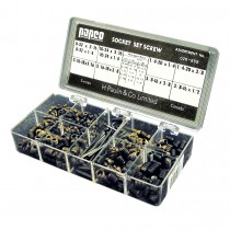 Socket Set Screw Garage Assortment: 5 Hex Keys & 84 Socket Set Screws (10 popular sizes)