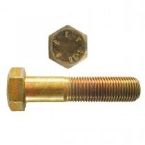 "1 1/2"" x 4"" Hex Head Cap Screw - Yellow Zinc Dichromate Plated - Grade 8 - UNF"