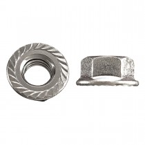 "3/8""-16 Flange Nut-Tensilock-Hardened-Zinc Plated"