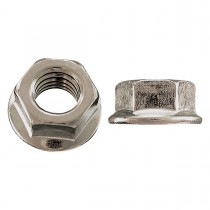 "1/4""-20 Flange Nut-Non-Serrated-Not Hardened-Zinc Plated"