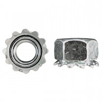 "1/4""-28 Keps Lock Nut-Zinc Plated"
