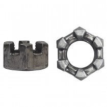 "7/16""-20 Finished Thick Slotted Hex Nut-UNF"