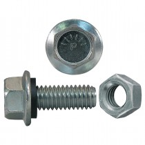 """3/8""""-16 x 1-1/4"""" Indented Hex Grain Bin Bolts With Finished Hex Nuts JS500"""