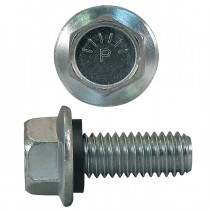 "1/4""-20 x 1"" Indented Hex Grain Bin Bolts JS500"