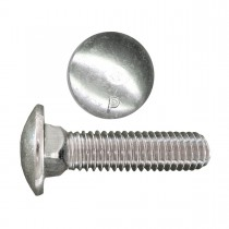 "1/4"" x 1"" Carriage Bolt-Zinc Plated-UNC"