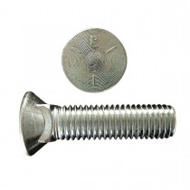 "1/2"" x 1 1/4"" Plow Bolt-No. 3 Head-Zinc Plated -Grade 5-UNC"