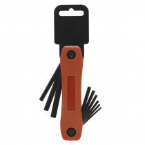"5/64"", 3/32"", 7/64"",1/8"", 9/64"", 5/32"", 3/16"", 7/32"", 1/4"" Folding Plastic Socket Key Sets"