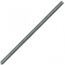 "1/4""-20 x 12"" Steel Fully Threaded Rods-Zinc Plated-UNC"