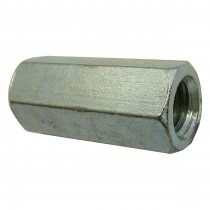 "1/2""-13 Hex Coupling Nut-Fully Threaded-Zinc Plated-UNC"