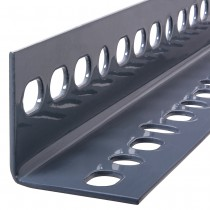 """1/8"""" x 1-1/2"""" x 96"""" Steel Slotted Angles - Zinc Plated"""