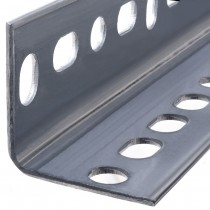 """1"""" x 1/4"""" x 96"""" Steel Slotted Angles-Zinc Plated"""