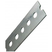 """1 3/8"""" x .074"""" x 48"""" Galvanized Steel Slotted Flats"""