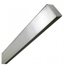 "1/2"" x 1' Steel Square Rod Zinc Plated"