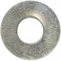 "No.6 (1/8"" B.S.) Steel SAE Washer -100 Pack-Zinc Plated"