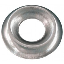 "6 (1/8"") Brass Countersunk Finishing Washer-Standard Type-Nickel Plated"