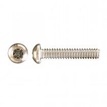 "1/4""-20 x 1 1/4"" Pan Head Phillips Machine Screw-Zinc Plated"