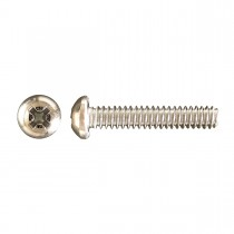 "1/4""-20 x 3/8"" Pan Head Phillips Machine Screw-Zinc Plated"