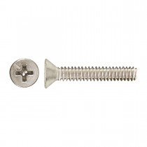 "1/4""-20 x 2"" Flat Head Phillips Machine Screw-Zinc Plated"