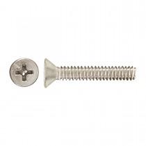"10-32 x 1/2"" Flat Head Phillips Machine Screw-Zinc Plated"