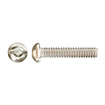 "10-24 x 1/2"" Round Head Square/Slot Drive Machine Screw-Zinc Plated"