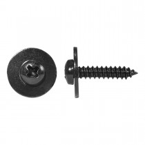 #8 x 20mm Tapping Screw Round SEMS Blk