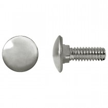 "1/4"" x 3/4"" Bumper Bolts Stainless Steel Cap Round"