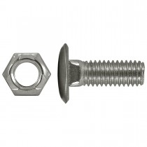 "7/16"" x 1-1/4"" Bumper Bolts Stainless Steel Cap Round"