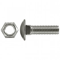"7/16"" x 1-1/2"" Bumper Bolts Stainless Steel Cap Round"