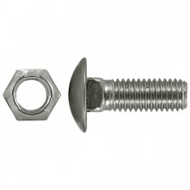 "1/2"" x 1-1/2"" Bumper Bolts Stainless Steel Cap Round"