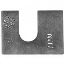"1-3/4"" x 1-1/4"" Body Shim - 1/16"" Thickness, 1/2"" slot"