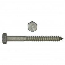 """1/2"""" x 4"""" 18.8 Stainless Steel Hex Hd Lag Bolt"""