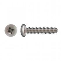 "1/4""-20 x 1 1/2"" 18.8 Stainless Steel Pan Head Phillips Machine Screw"