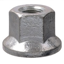 "5/8""-18 Flanged - 1-1/8"" Hex, 1-1/16"" Length Wheel Nut"