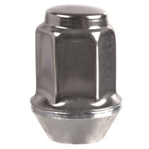 "1/2""-20 Dometop Capped - 13/16"" Hex, 1-15/32"" Length Wheel Nut"