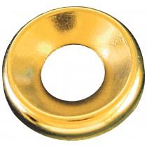 "10 (3/16"") Brass Finishing Washers-Countersunk Flush Type-Nickel Plated"