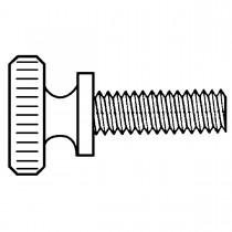 "10-24 x 3/4"" Nylon Screws-Knurled Thumb"