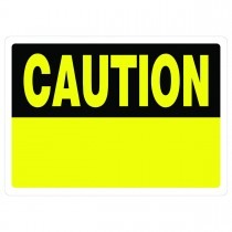 "10"" x 14"" CAUTION - Aluminum Sign in Yellow and Black"