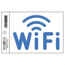 """4"""" x 6"""" Self-Adhesive Flexible Vinyl WiFi Labels in Blue and White"""