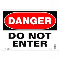 "10"" x 14"" DANGER DO NOT ENTER - Aluminum Sign in Red and Black"