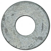 "9/16"" Bolt Size Plain Steel Washers-1 lb-Hot Dipped Galvanized"