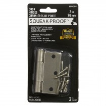 "3"" SQUEAK PROOF HINGE SQ 2PK SATIN NICKEL"