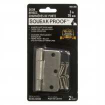 "3"" SQUEAK PROOF HINGE 1/4 2PK SATIN NICKEL"