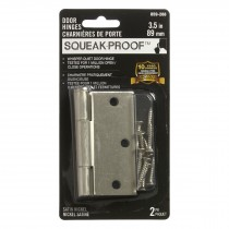 "3.5"" SQUEAK PROOF HINGE SQ 2PK SATIN NICKEL"