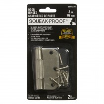 "3"" SQUEAK PROOF HINGE 5/8 2PK SATIN NICKEL"