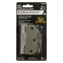 "3.5"" SQUEAK PROOF HINGE 5/8 2PK SATIN NICKEL"