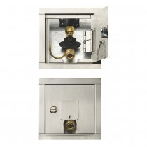 Recessed Stainless Steel Gas Outlet Box