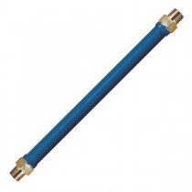 """1"""" Antimicrobial Blue PVC Coated Connector for Moveable Equipment"""
